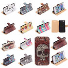 Stylish Printed PU Leather Flip Protector Phone Case Cover For Apple iPhone 5 5S