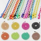 70cm(28Inch) Iron Ball Chain Necklace 2.4mm Bead Connector 18 Colours Wholesale
