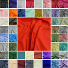 Plain Polycotton Fabric 60 Colours Poly Cotton Dress Craft