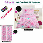 GLOW IN THE DARK Kids Princess Quilt Cover Set OR Curtains - SINGLE DOUBLE