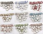 100pcs/8mm Crystal Rhinestone Paved Silver Plated Metal Spacer Beads Findings