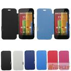 New Magnetic Leather Case Flip Cover Back Hard Case For Motorola Moto G XT1032