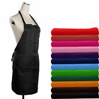 High Quality Plain Apron with Two Front Pocket for Kitchen Chefs Kitchen Cooking