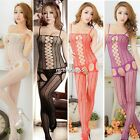 Sexy Women Lady Open Crotch Mesh Fish Net Body Stocking Lingerie Nightwear N4U8