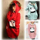 97k THICK WINTER SCRATCHED VELVET HOODED LOOSE PANDA PATTERNS SWEAT