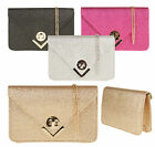 Glitter Envelope Clutch Bag Extendable Party Shoulder Chain Fashion Elegant