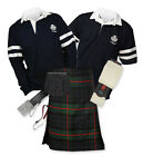 Sports Kit Premium 8yd Kilt Outfit - 2-Stripe Rugby Top - Gunn