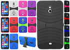 Nokia Lumia 1320 Hard Gel Rubber KICKSTAND Case Phone Cover + Screen Protector