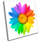 Abstract Sunflower  Floral SINGLE CANVAS WALL ART Picture Print VA