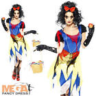 Twisted Snow White Fright Halloween Fairytale Ladies Fancy Dress Costume UK 8-16