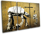 AT-AT Father Banksy Street TREBLE CANVAS WALL ART Picture Print VA