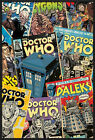"DOCTOR WHO - FRAMED TV POSTER / PRINT (DR. WHO COMIC COVERS) (SIZE: 24"" X 36"")"
