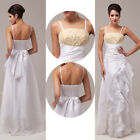 STOCK Newly Bridesmaid Wedding Gown Prom Ball Evening Dress Size 6-8-10-12-14-16