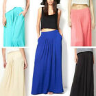 Women Girl Fashion Summer Beach Maxi Pleated Mopping Floor Flippy Long Skirt