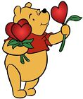 "5.5-9"" DISNEY POOH HEARTS FLOWERS  WALL SAFE STICKER CHARACTER BORDER CUT OUT"