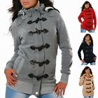 Damen Jacke Mantel Sweat Hoodie Winter Pullover Kapuze Übergangsjacke Sweater