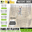 """24"""" / 30"""" / 36"""" 8 Panel Pet Playpen Fold Exercise Cage Fence Enclosure Dog Puppy"""