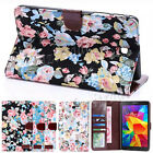 """Flower Pattern Stand Card Slot Case Cover Pouch For Samsung Galaxy Tab 4 8"""" T330"""
