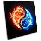 Ying Yang Abstract SINGLE CANVAS WALL ART Picture Print VA