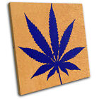 Cannabis Leaf Abstract SINGLE CANVAS WALL ART Picture Print VA