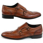 Mens Leather Dress Shoes Double Buckle Monk Strap Slip on Loafer Giorgio Brutini