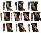 10 Mix Styles Slip On Temporary Tattoo Sleeves Arm Stockings Fashion Lots 10 Pcs
