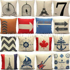Cotton Linen Pillow Case Cushion Cover Decorative Square Home Throw Sofa Simple image