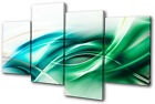Abstract Funky Design MULTI CANVAS WALL ART Picture Print VA