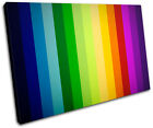 Stripes Funky Abstract SINGLE CANVAS WALL ART Picture Print VA