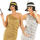 1920s Flapper Dress Ladies Fancy Dress 20s Gatsby Womens Adults Costume Outfit