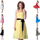 ❤US CLEARANCE ❤2014 Strapless Short Evening Bridesmaid Prom Party Ball Dress NEW