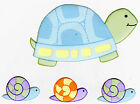 "5.5-8.5"" LEAP FROGGIE TURTLE SNAIL WALL SAFE STICKER CHARACTER BORDER CUTOUT"