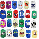 glitter dog tag necklace NFL PICK YOUR TEAM $7.65 USD on eBay