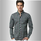 New Square-Cut Collar Leisure Cotton Long Sleeve Men Business Slim Shirt