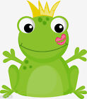 "6-9.5"" FROG PRINCE NURSERY WALL STICKER GLOSSY BORDER CHARACTER CUT OUT"