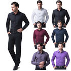 HOT COLLECTIONS NOBLE MEN LONG SLEEVE BUTTON DOWN LAPEL WORK DRESS SHIRTS S~XL