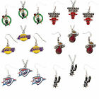 necklace & earring set dangle charm NBA PICK YOUR TEAM
