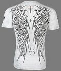 ARCHAIC by AFFLICTION Mens T-Shirt SPIKE WINGS Tattoo WHITE Biker MMA UFC $40