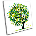 Abstract Tree Illustration SINGLE CANVAS WALL ART Picture Print VA