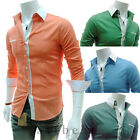 New Stylish Mens Luxury Casual Long Sleeve Dress Fashion Slim Fit T-Shirts Tee