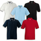 (F586)FRUIT OF THE LOOM TIPPED POLO T-SHIRT Kurzarm Kontrast - S M L XL XXL 3XL