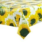 SUNFLOWER WIPE CLEAN VINYL TABLECLOTH OILCLOTH - Click for list of sizes