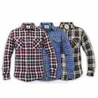 Mens Shirts Soul Star Flannel Checked Tartan Slim Fit Collared Cotton Vintage
