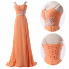 2014 NEW Full-Length Sleeveless Evening Gown Prom Formal Party Bridesmaid Dress