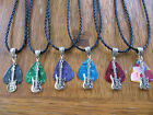 create your own guitar pick - Handcrafted Silver (Guitar) Charm Guitar Pick Necklace Your choice of Color 18