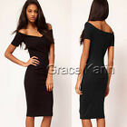 3 COLOR Lady Cocktail Off Shoulder Bodycon Club Evening Short Pencil Party Dress