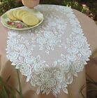 Heritage Lace Tea Rose Table Runner, Choice of 2 Colors & 4 Sizes, 1 or Set, NWT
