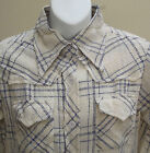 Cheesecloth shirt size 12 UNUSED VINTAGE 1970s blouse Hand woven Indian cotton