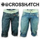 Mens Shorts Crosshatch Jeans Cargo Combat 3 4 Bottoms Designer Denim Summers
