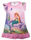 Disney Little Mermaid Ariel Children Kids Girls Dress Pajama Skirt 3-10 Yrs Pink